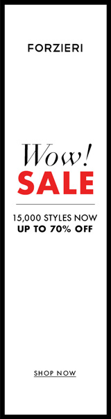 New Year Sale at FORZIERI.COM - 160x600