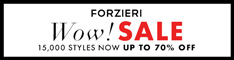 New Year Sale at FORZIERI.COM - 234x60