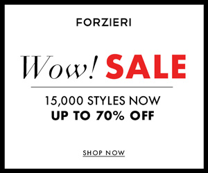 THE WINTER SALE at FORZIERI.COM - 300x250