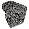 Click Here for More information or to Buy online Black & White Woven Silk Tie