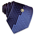 Click Here for More information or to Buy online Navy Blue & Bright Blue Geometric Woven Silk Tie