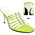 Click Here for More information or to Buy online Lime Swarovski Crystal Strappy Slide