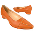 Click Here for More information or to Buy online Orange Pointed Toe Flat