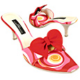 Optical Pink Slide w/removable Red Ribbon Shoes