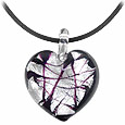 Click Here for More information or to Buy online Passione - Black & White Murano Glass Heart Pendant