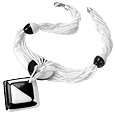 Click Here for More information or to Buy online Jazz - Optical Black & White Murano Glass Necklace