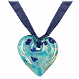 Click Here for More information or to Buy online Carlotta - Blue Murano Glass Heart Necklace