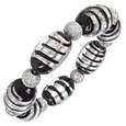 Click Here for More information or to Buy online Dalila - Black and Silver Murano Glass Bracelet