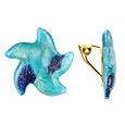 Click Here for More information or to Buy online Tosca - Turquoise Murano Glass Starfish Clip-on Earrings