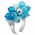 Click Here for More information or to Buy online Virginia - Light Blue Murano Glass Ring