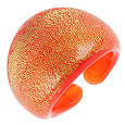 Click Here for More information or to Buy online Laguna - Orange & Gold Murano Glass Ring