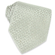 Click Here for More information or to Buy online Silver Geometric Jacquard Silk Tie