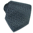 Click Here for More information or to Buy online Navy Blue Geometric Jacquard Silk Tie