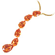Click Here for More information or to Buy online Tangerine Swarovski Crystal Necklace