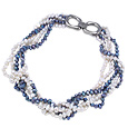 White and Blue Pearls Necklace
