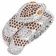 Click Here for More information or to Buy online Streamlined Snake Swarovski Crystals Bracelet
