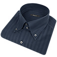 Click Here for More information or to Buy online Dark Blue Tonal Stripes Cotton Dress Shirt