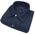 Click Here for More information or to Buy online Dark Blue Solid Cotton Dress Shirt