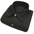 Click Here for More information or to Buy online Black Solid Cotton Dress Shirt