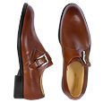 More information or Buy online Brown Leather Monk Strap Shoes