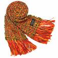 Fiamma - Women's Boucle' Wool Fringed Long Scarf