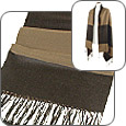 Click Here for More information or to Buy online Reversible Tobacco & Black Silk and Wool Stole