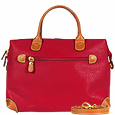 Click Here for More information or to Buy online Life - Red Micro-Suede Top Zip Handbag