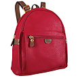 Click Here for More information or to Buy online Life - Red Micro-Suede and Leather Backpack