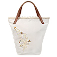 Click Here for More information or to Buy online White Handbag with Embroidered Buttons