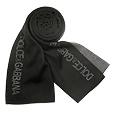 Click Here for More information or to Buy online Black/Gray Logoed Knit Long Scarf