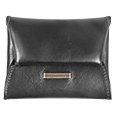 Click Here for More information or to Buy online Black Envelope Calf Leather Coin Holder
