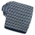 Click Here for More information or to Buy online Blue Logo Knitted Silk Tie