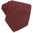 Click Here for More information or to Buy online Logoed Bordeaux Woven Silk Tie