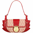 Beige & Red Zucchino Jacquard Compilation Bag