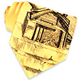 Click Here for More information or to Buy online Temple Ruins Yellow Printed Silk Tie
