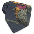 Click Here for More information or to Buy online Night Owls Dark Blue Woven Silk Tie