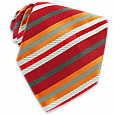 Click Here for More information or to Buy online Orange Diagonal Bands Woven Silk Tie