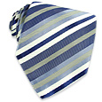 Click Here for More information or to Buy online Blue Diagonal Bands Woven Silk Tie