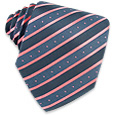 Click Here for More information or to Buy online Blue & Pink Diagonal Bands Woven Silk Tie
