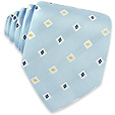 Click Here for More information or to Buy online Multi-color Diamonds Baby Blue Woven Silk Tie