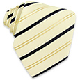 Click Here for More information or to Buy online Gold & Blue Bands Classic Ivory Silk Tie