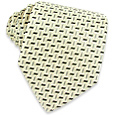 Click Here for More information or to Buy online Geometric White & Gray Woven Silk Tie