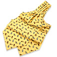 Click Here for More information or to Buy online Jungle Animals Yellow Printed Silk Ascot