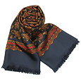 Click Here for More information or to Buy online Paisley Blue Reversible Wool-Silk Men's Scarf