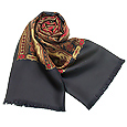 Click Here for More information or to Buy online Dark Blue Oriental Reversible Wool-Silk Men's Scarf
