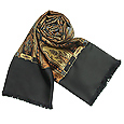 Click Here for More information or to Buy online Black Oriental Reversible Wool-Silk Men's Scarf