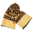 Click Here for More information or to Buy online Paisley Gold Reversible Wool-Silk Men's Scarf