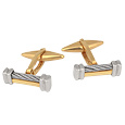 Click Here for More information or to Buy online Di Fulco Line Gold and Stainless Steel Cufflinks