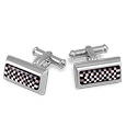Click Here for More information or to Buy online Onyx and Mother of Pearl Chess Sterling Silver Cufflinks