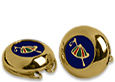 Click Here for More information or to Buy online Golden Plated Button Covers